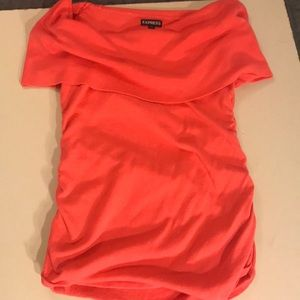 Express sweater tank pretty coral color size small